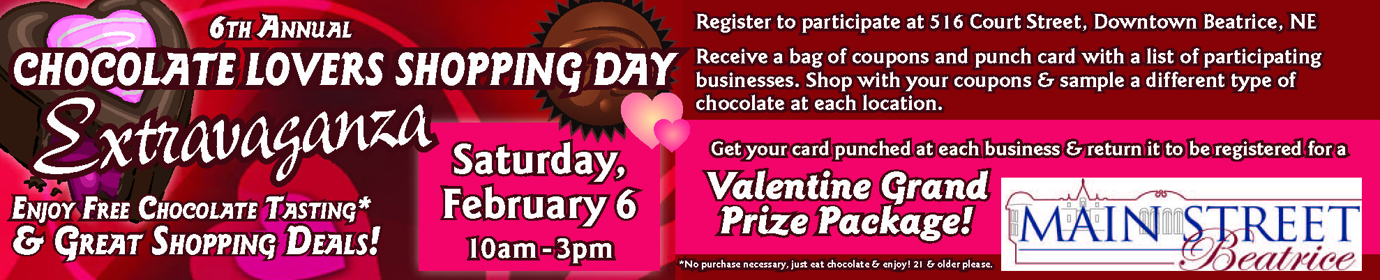 2016 5th Annual Chocolate Lover's Event Beatrice, NE