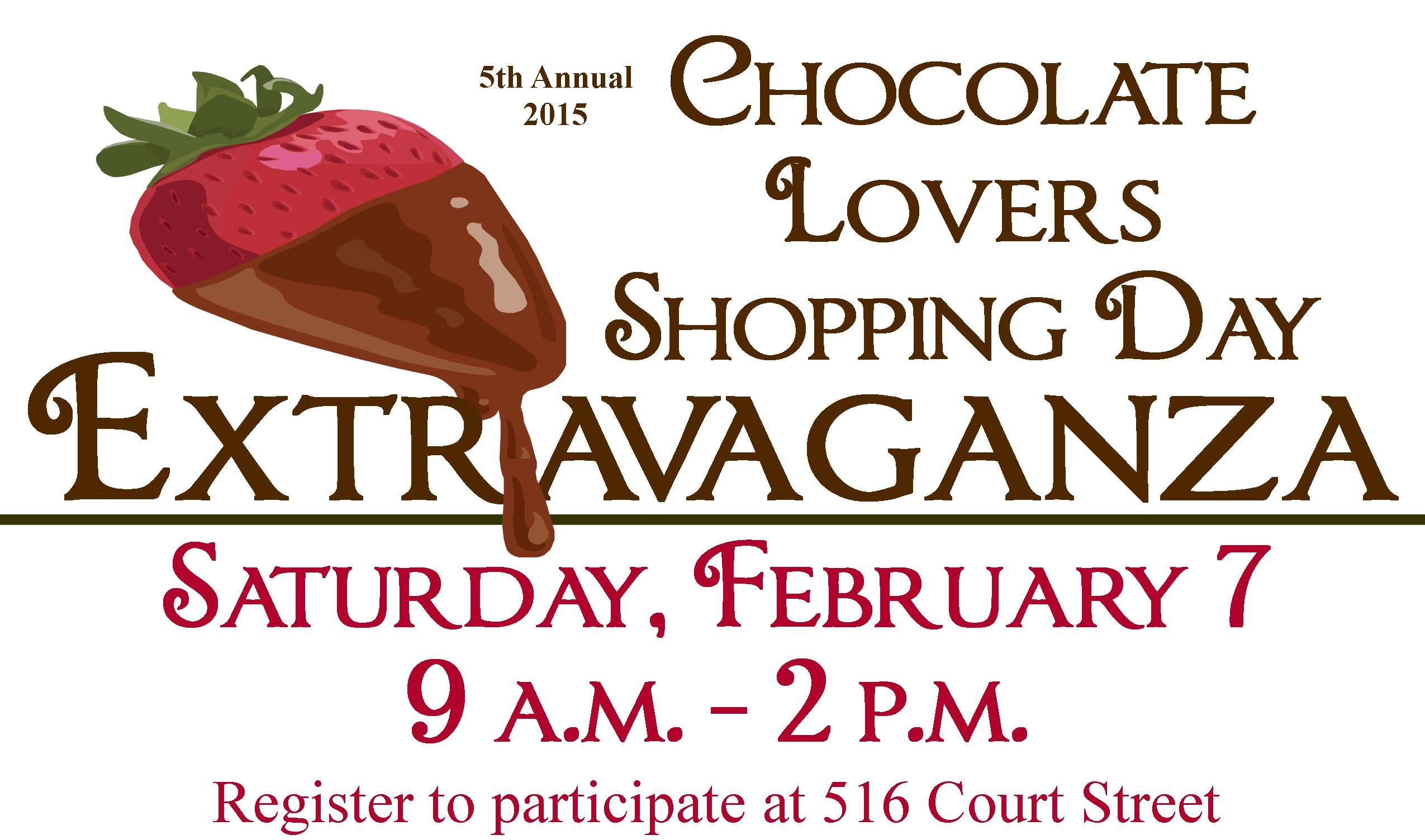 2015/5th Annual Chocolate Lover's Shopping Day Extravaganza - Downtown Beatrice, NE