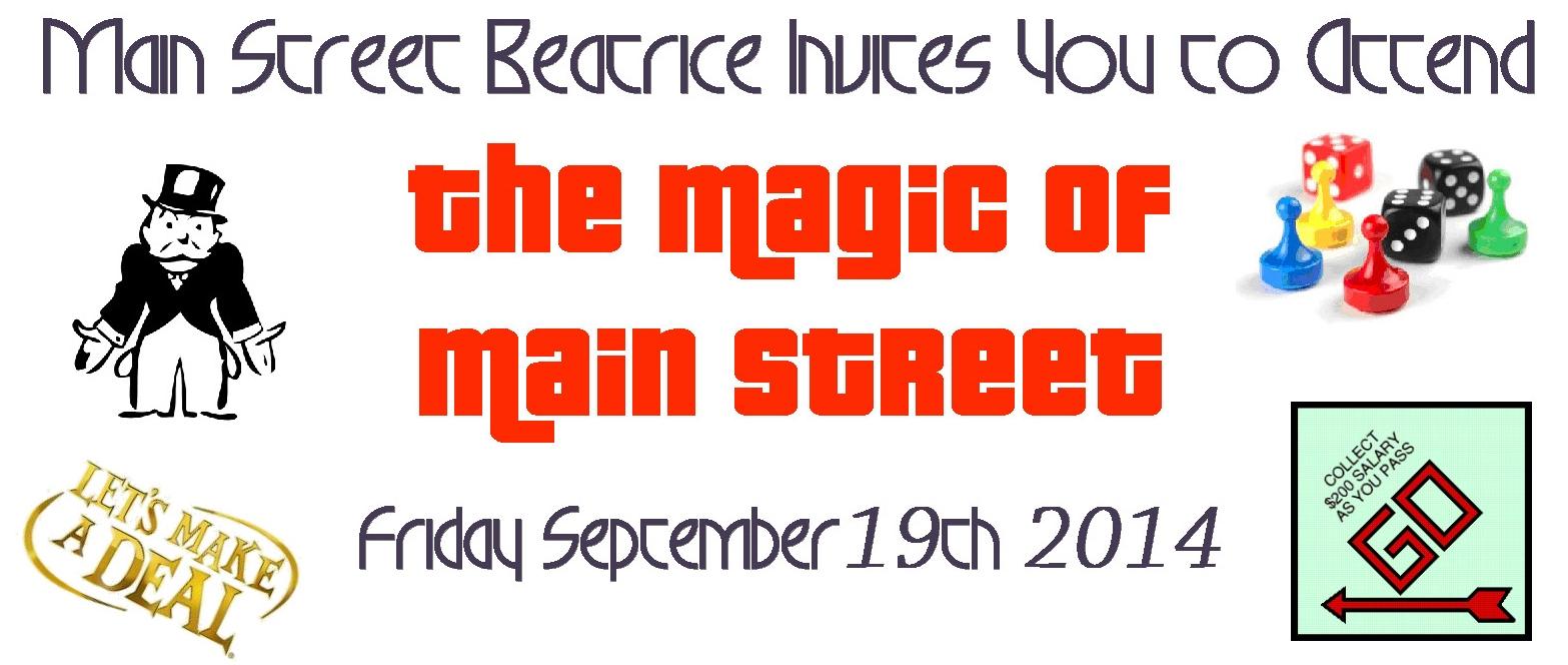 2014 Magic of Main Street Beatrice Event Sept. 19