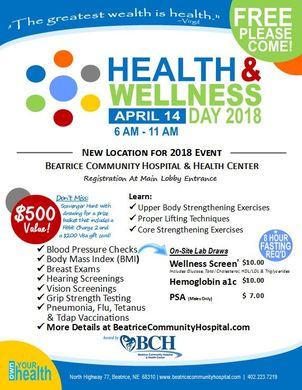 Health & Wellness Day Flyer