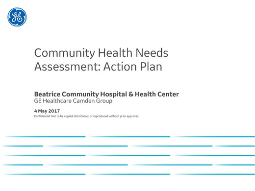 Community Health Needs Assessment: Action Plan