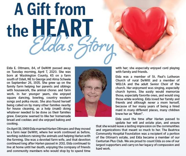 Elda Oltman Story